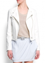 White moto jacket from Mango at Mango