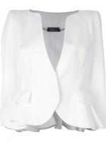 White peplum blazer by Alexander McQueen at Farfetch