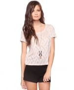 White pointelle top from Forever 21 at Forever 21