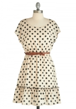 White polka dot dress at Modcloth at Modcloth