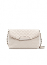 White quilted shoulder bag by Mango at Mango