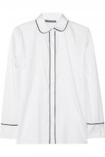 White shirt with black piping at Outnet