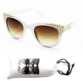 White studded sunglasses at Amazon