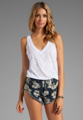 White tank by Monrow at Revolve