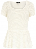 White textured top from Dorothy Perkins at Dorothy Perkins