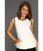 White top with black trim by Calvin Klein at Zappos