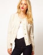 White tweed boucle jacket like Lemons at Asos