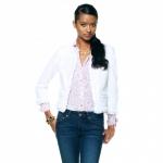 White tweed jacket at Cwonder