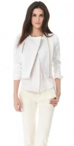 White tweed jacket by J Brand at Shopbop