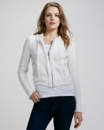 White tweed jacket by Rebecca Taylor at Neiman Marcus