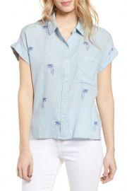 Whitney Print Linen Blend Shirt rails at Nordstrom Rack