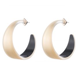 Wide Graduated Medium Hoop Earring at Alexis Bittar