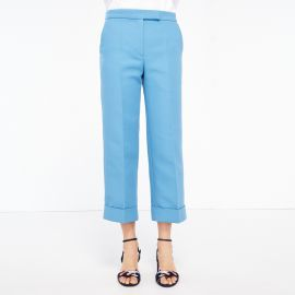 Wide Leg Tailored Trousers at Sandro