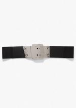 Wide Metal Buckle Belt at Bebe
