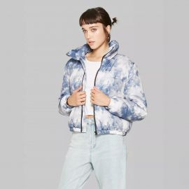 Wild Fable Tie Dye Zip-Up Puffer Jacket at Target