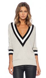 Wilde Heart Varsity Sweater in Cement from Revolve com at Revolve