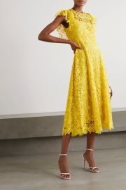 Wildflower guipure lace midi dress at Net a Porter