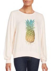 Wildfox - Graphic Printed Long Sleeve Pullover at Saks Off 5th