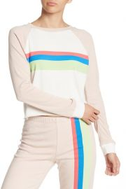 Wildfox Beach House Mellow Stripe Crop Sweatshirt at Nordstrom Rack