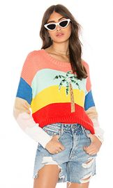 Wildfox Couture Cayman Palm Iris Sweater in Multi Colored from Revolve com at Revolve