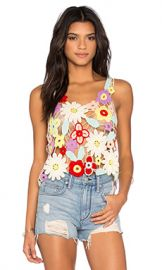 Wildfox Couture Flower Crochet Tank in Multi from Revolve com at Revolve