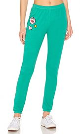 Wildfox Couture Knox Sweatpant in Emerald Green from Revolve com at Revolve