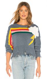 Wildfox Couture Rainbow Storm Sweater in Vision Blue from Revolve com at Revolve