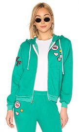 Wildfox Couture Regan Zip Hoodie in Emerald Green from Revolve com at Revolve