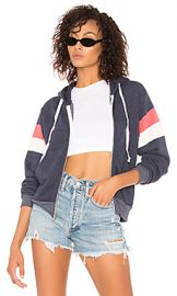 Wildfox Couture Varsity Stripe Regan Zip Hoodie in Oxford from Revolve com at Revolve