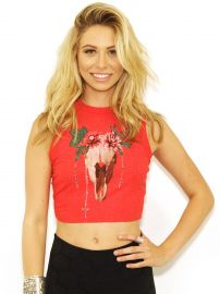 Wildfox Desert Dahlia Keaton Tank in Free Love Red at Boutique to You