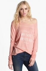 Wildfox Do Not Disturb Raglan Sleeve Top at Nordstrom