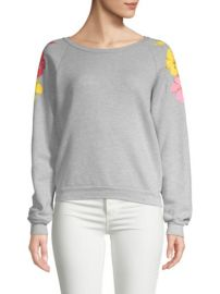 Wildfox Hibiscus Heathered Sweatshirt at Saks Off 5th