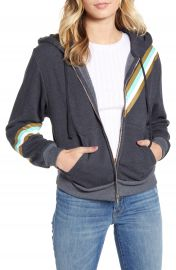 Wildfox High On Nature Everyday Metallic Stripe Cotton Blend Hoodie   Nordstrom at Nordstrom