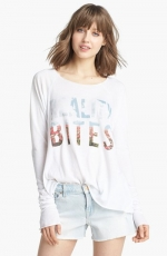 Wildfox Reality Bites long sleeved tee at Nordstrom