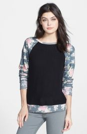 Wildfox Rose Sleeve Pullover at Nordstrom