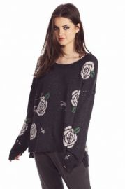 Wildfox Shredded Roses Sweater at The Trend Boutique
