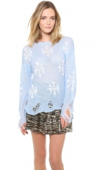 Wildfox Snowflake Sweater at Shopbop