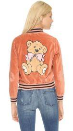 Wildfox Teddy Baseball Jacket at Shopbop