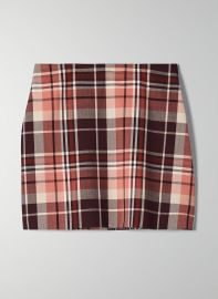 Wilfred New Classic Check Mini Skirt in Rustique/Wrm Erth Kent at Aritzia