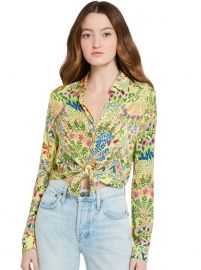 Willa Floral-Print Button-Down Shirt  at Alice and Olivia
