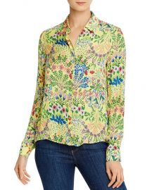 Willa Floral-Print Button-Down Shirt by Alice Olivia at Bloomingdales
