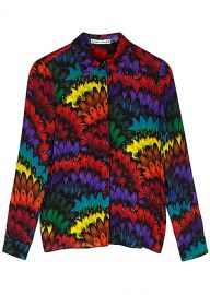 Willa Printed Silk Blouse by Alice + Olivia at Harvey Nichols