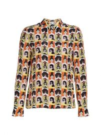 Willa Stace Face Silk Blouse by Alice + Olivia at Saks Fifth Avenue