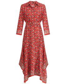 Willamette Paisley Silk Shirt Dress at Intermix