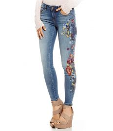 William Rast Embroidered Perfect Skinny Jeans at Dillards