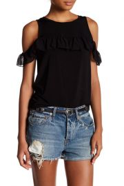 Willow & Clay Cold Shoulder Ruffle Blouse at Nordstrom Rack