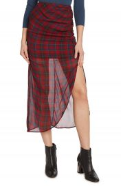 Willow  amp  Clay Plaid Ruched Skirt at Nordstrom