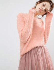 Willow and Paige Fluffy Sweater at Asos