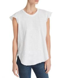Wilt Raw-Edge Flutter-Sleeve Tee Women - Bloomingdale s at Bloomingdales