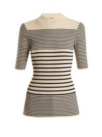 Wimna striped ribbed-knit cotton-blend top at Matches